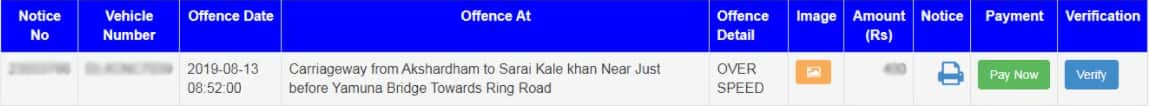 E Challan Status Enquiry and Online Payment Details