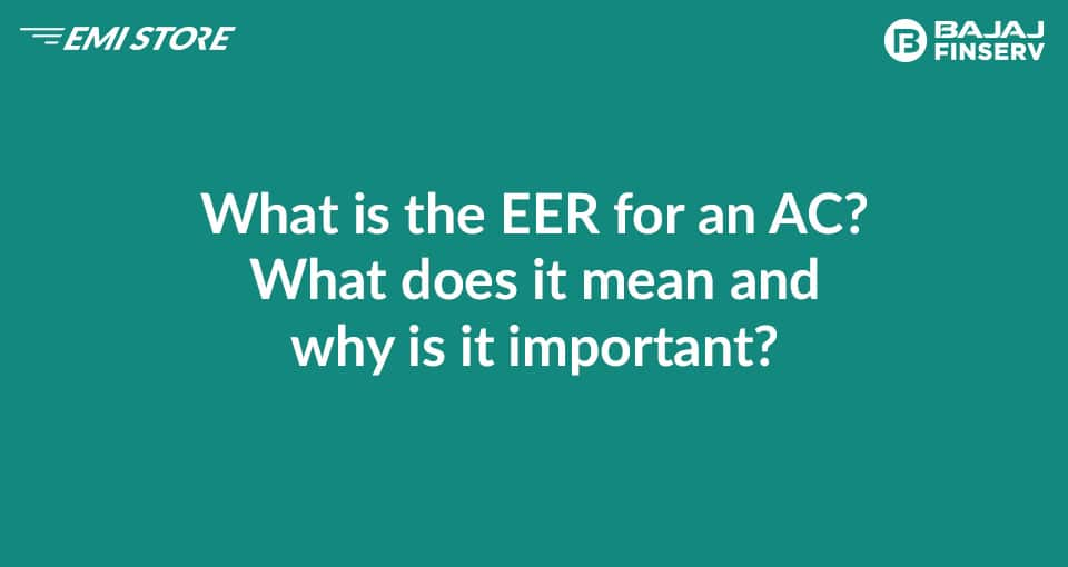 What is an EER for an AC