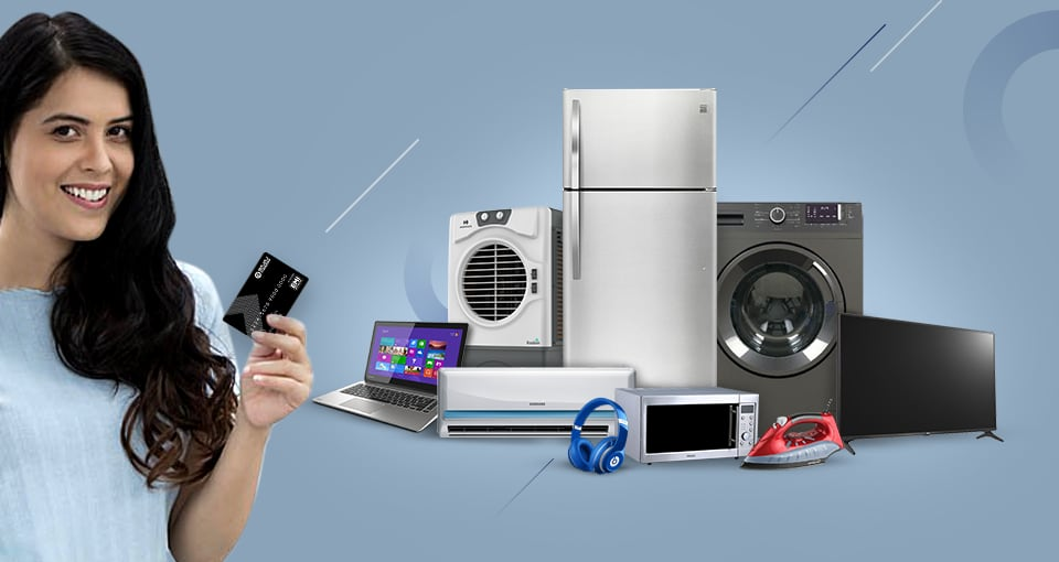 Shop for Electronics & Appliances without credit card on EMI