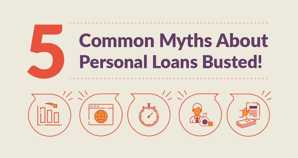 Commons Myths of Personal Loans Infographic