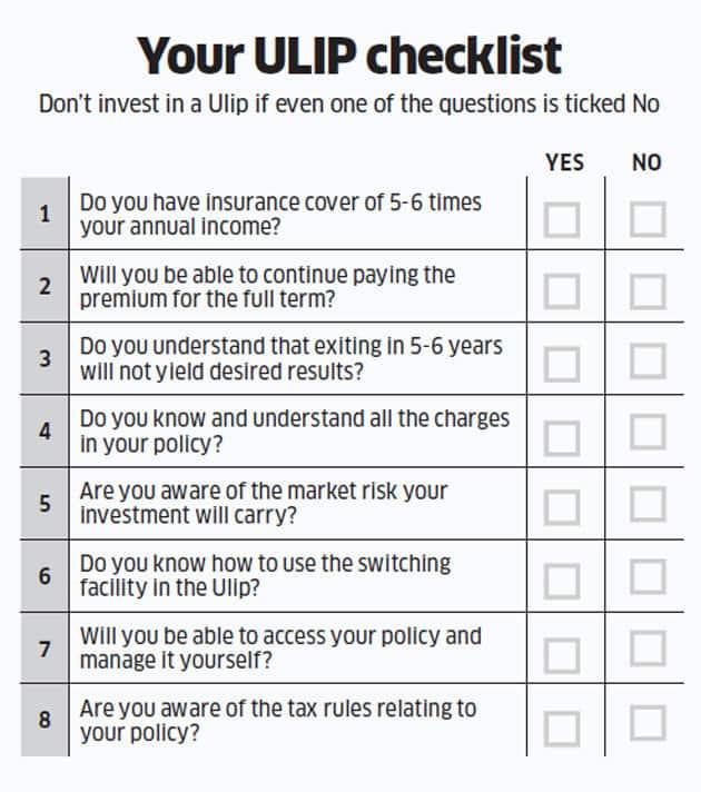 ULIP Checklist