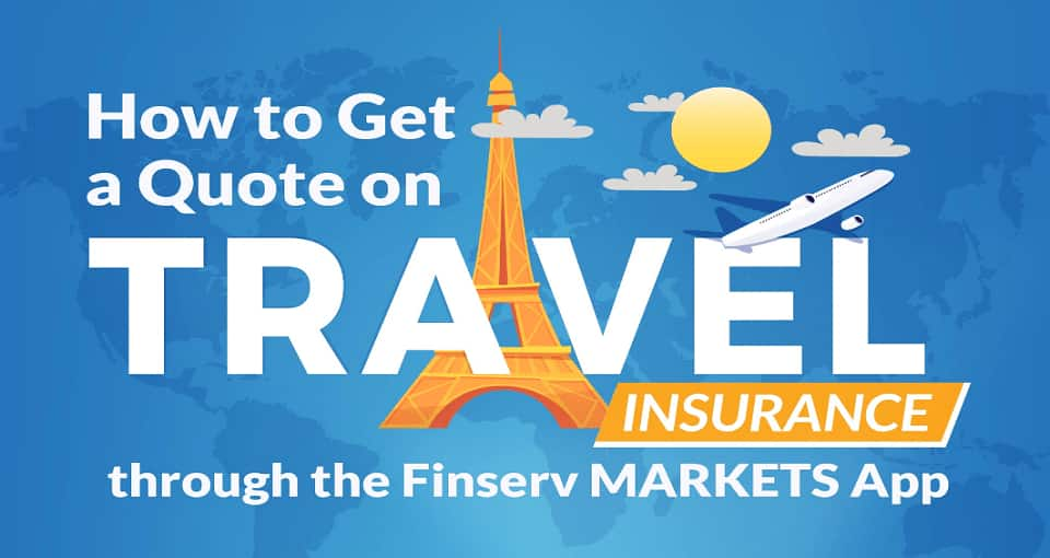 Travel Insurance Quote on Finserv MARKETS